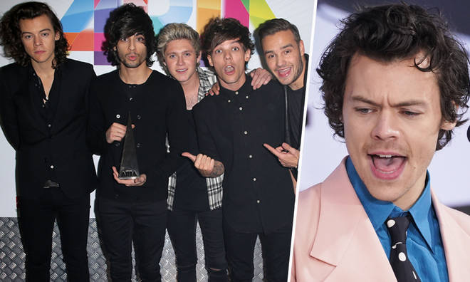 Harry Styles and One Direction at the ARIA awards in 2014