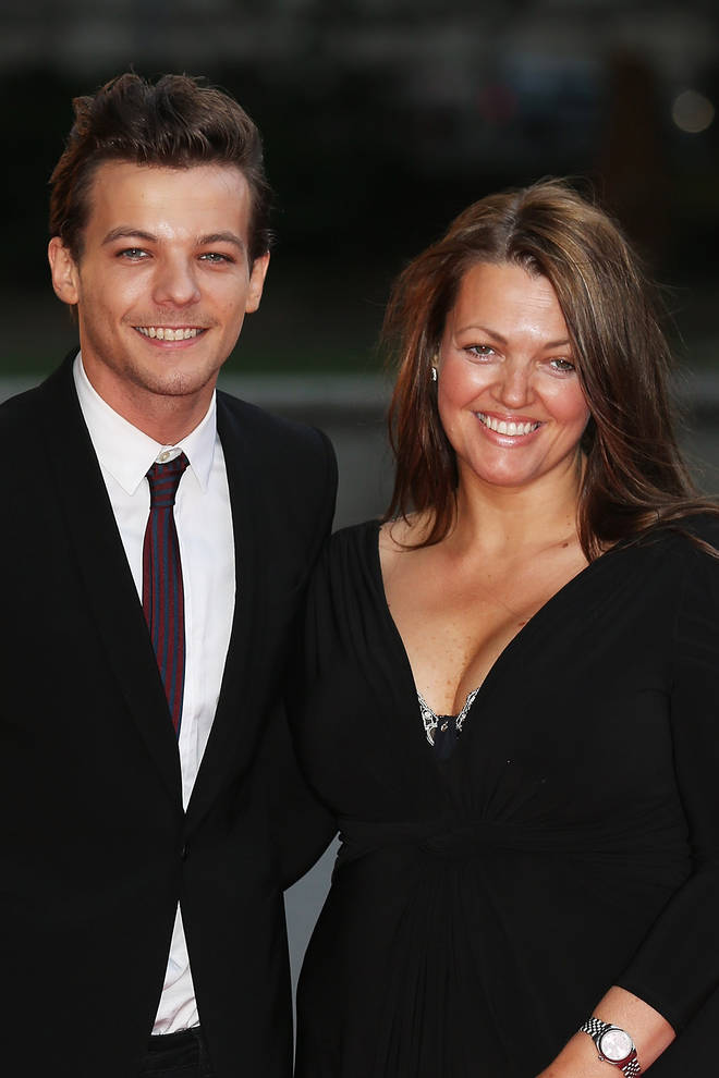 Louis Tomlinson and mother Johannah Deakin in 2015