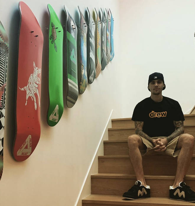 Justin Bieber has a skateboard collection