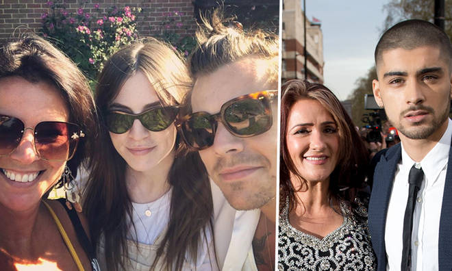Harry Styles with sister and mum, and Zayn with mum