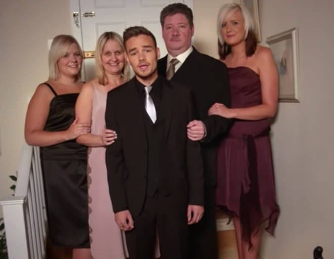 Liam Payne along with his parents and siblings