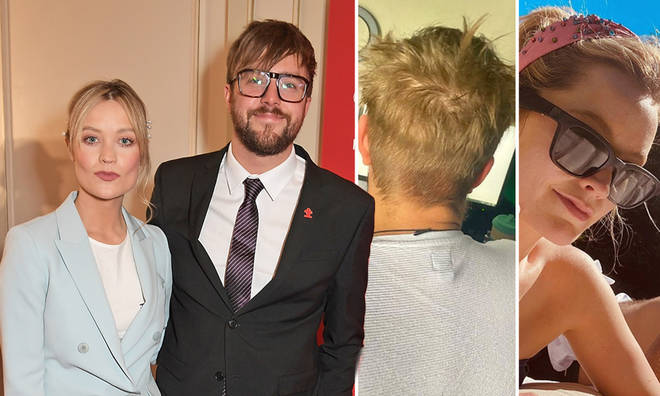 Laura Whitmore attempted to cut boyfriend Iain Stirling's hair