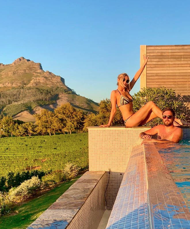 Laura Whitmore posted this throwback snap of when she and Iain Stirling were in South Africa for Love Island