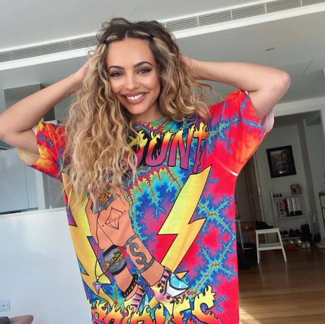 Jade Thirlwall posted this photo of her natural hair