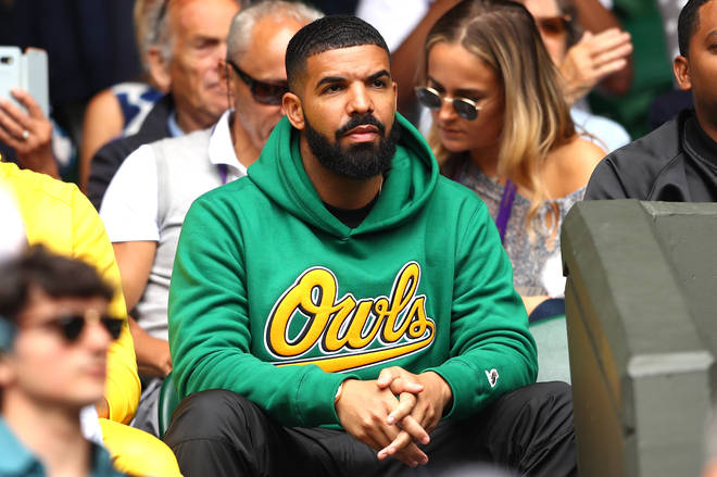 Drake attends day eight of the Wimbledon