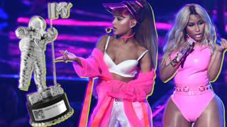 Ariana Grande and Nicki Minaj Perform At 2016 MTV VMAs