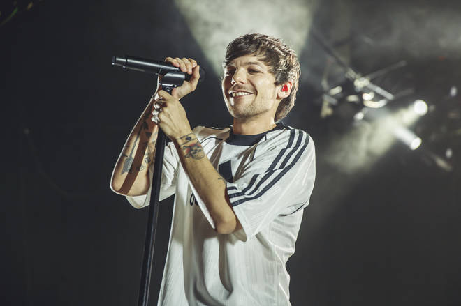 Louis Tomlinson performs at a concert in Madrid