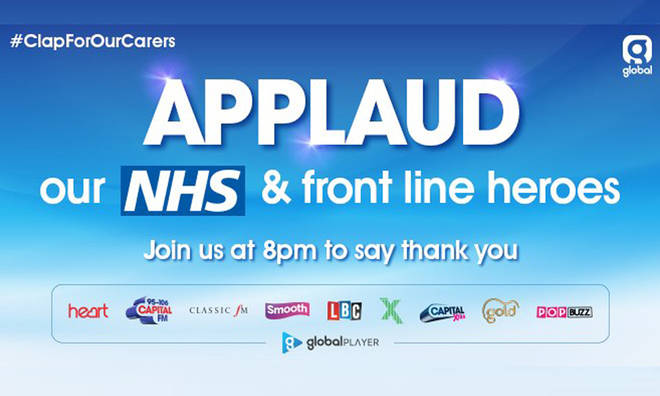 Applaud Our NHS and Front Line Heroes at 8pm tonight