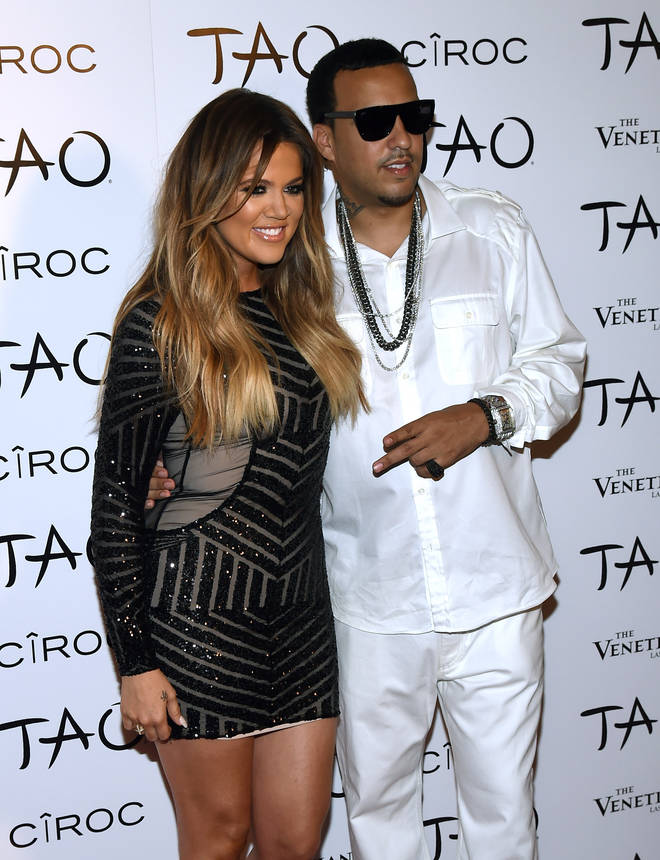 Khloe Kardashian and French Montana at her 30th birthday party