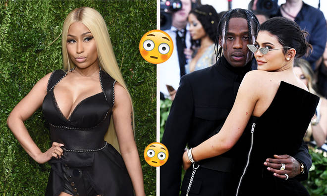 Kylie Jenner & Travis Scott Seated Behind Nicki Minaj At VMA's After Twitter Rant