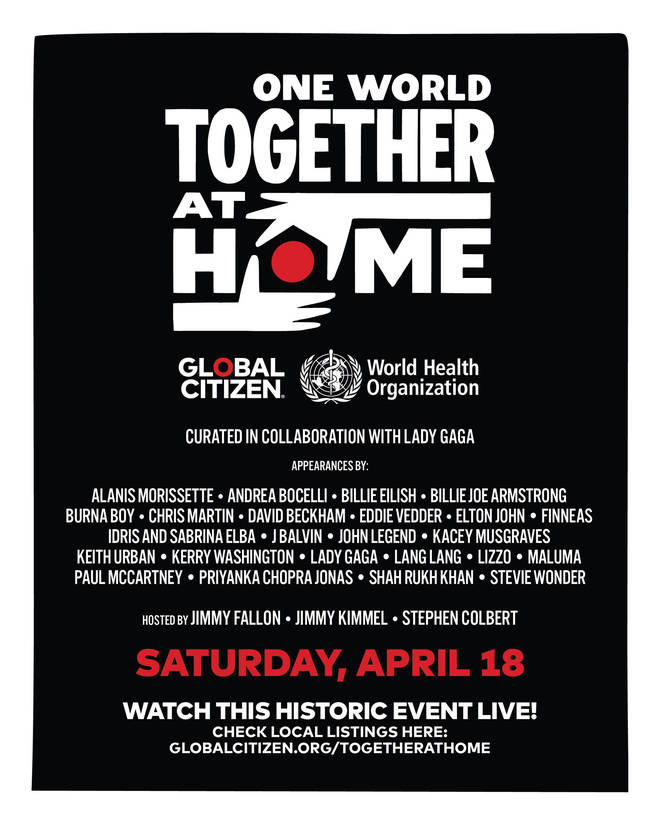 One World: Together At Home has a star-studded line up