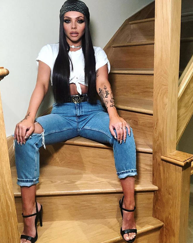 Jesy Nelson has a huge staircase in the entrance hall of her home