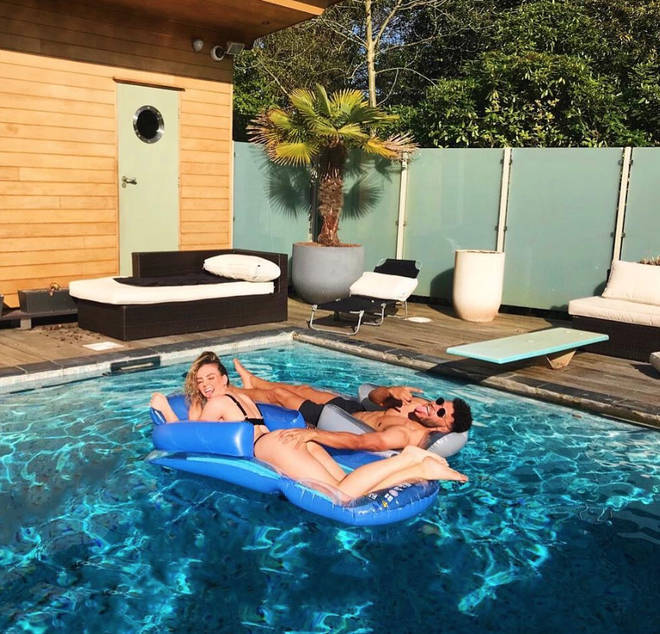 Perrie Edwards' house with Alex Oxlade-Chamberlain has its own pool