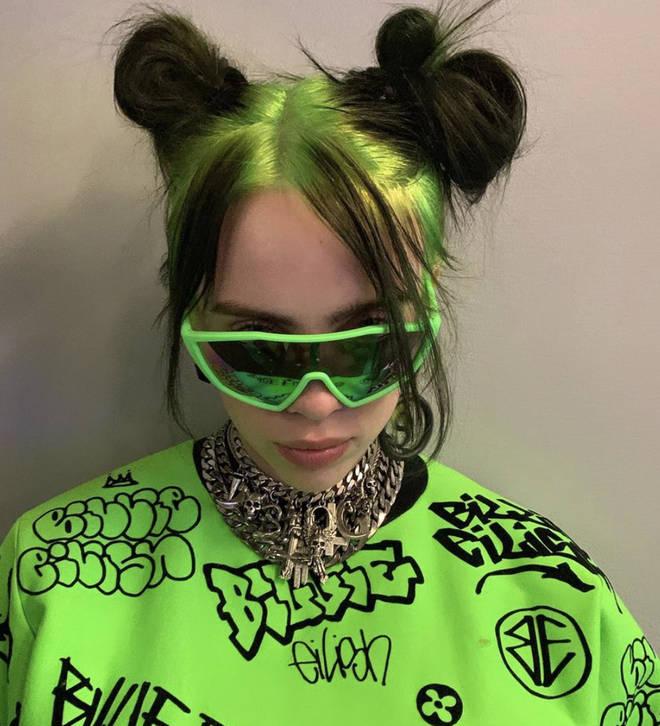 Billie Eilish has been rocking bright green hair in 2020