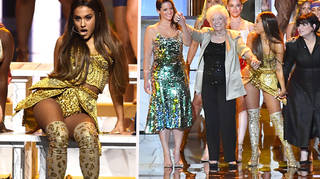 Ariana Grande Brought Her Mum & Nonna Out During VMA Performance