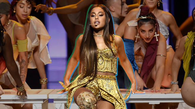 Ariana Grande performs onstage during the 2018 MTV Video Music Awards