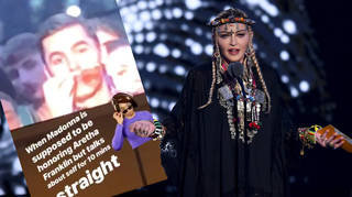 """Madonna's tribute to Aretha Franklin was criticised for being """"self-indulgent""""."""
