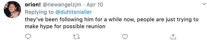 A fan refutes rumours 1D just followed Zayn on Twitter