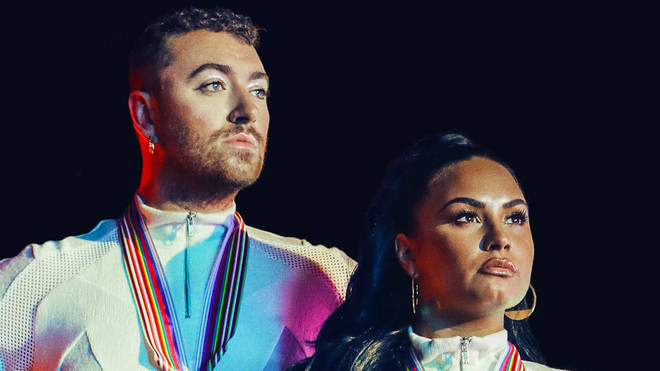 Sam Smith and Demi Lovato in 'I'm Ready' music video
