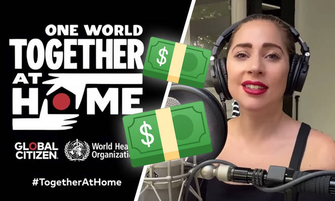 How much money did One World Together At Home raise?
