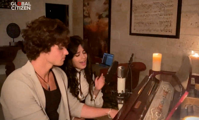 Shawn Mendes and Camila Cabello perform for Global Citizen Together At Home