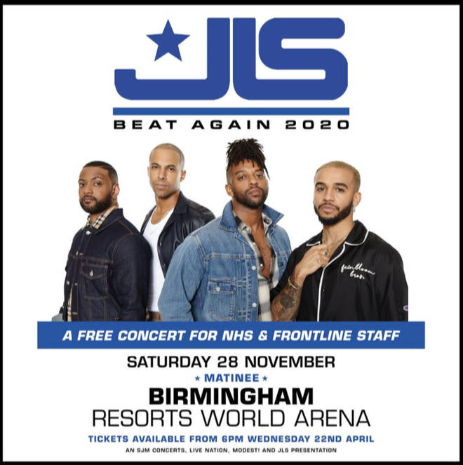JLS host free NHS and frontline worker concert to say thank you!