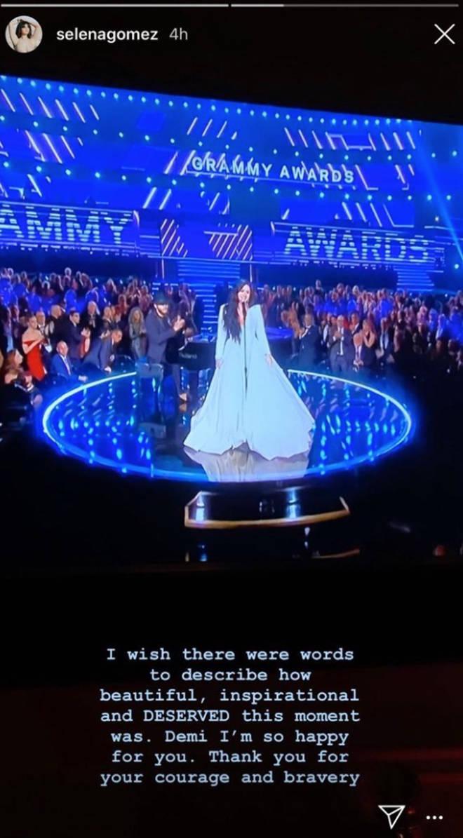 Selena Gomez congratulates Demi Lovato for GRAMMY 2020 performance