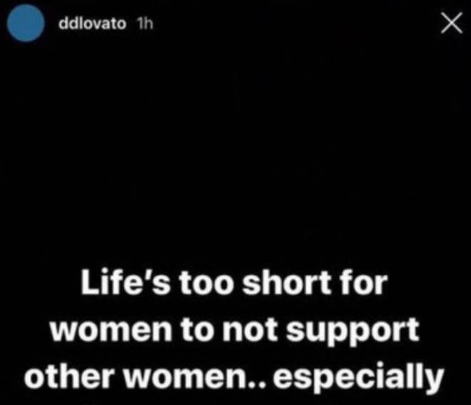 Demi Lovato accused of being a hypocrite posting about women supporting each other amid Selena Gomez feud.