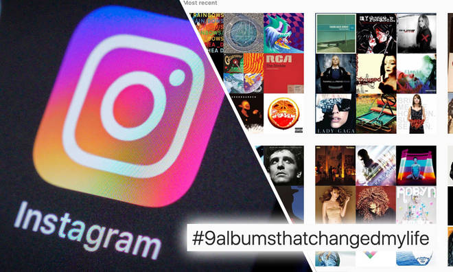 The hashtag #9AlbumsThatChangedMyLife has been trending on Instagram