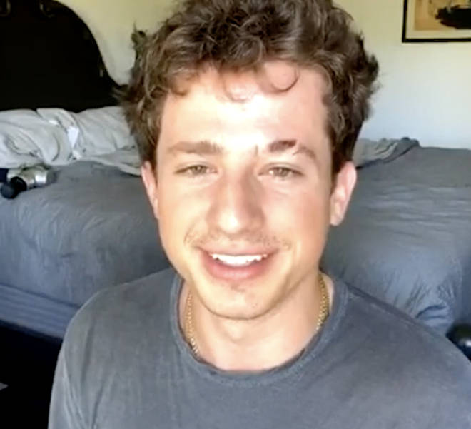 Charlie Puth on Capital's Instagram live