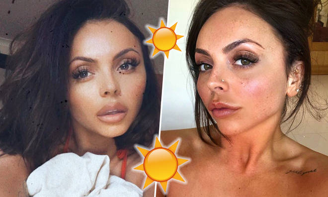Jesy Nelson's freckles are out as the singer looks summery AF!