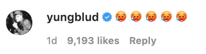 Yungblud left a series of sweaty face emoji on ex Halsey's Instagram video
