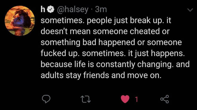 Halsey hinted that her split from Yungblud was amicable
