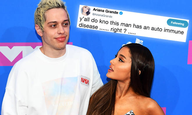 Ariana Grande Defends Pete Davidson From Troll