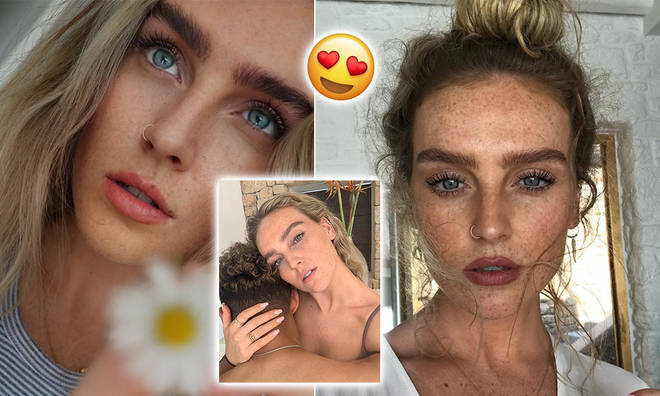 Little Mix singer Perrie Edwards has embraced the natural look