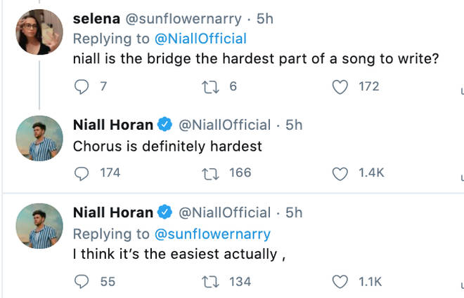 Niall Horan chats to fans about the song writing process