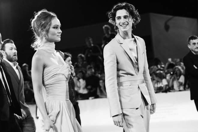 Timothée Chalamet and co-star Lily Rose Depp got together on the set of 'The King'