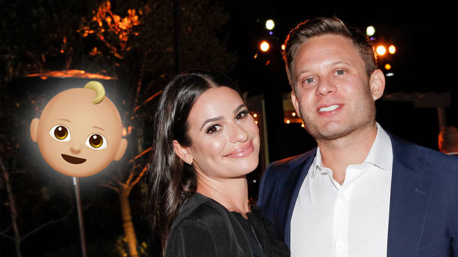Lea Michele is expecting, with her husband