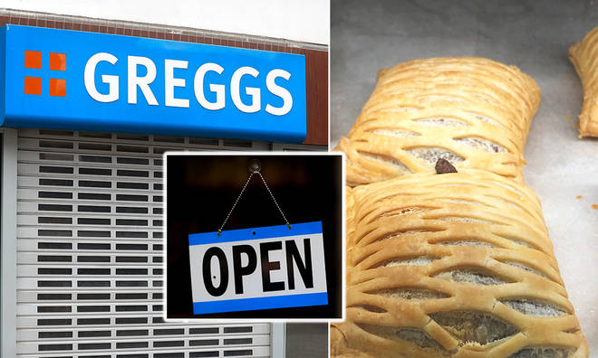 Greggs has decided to trial a delivery and takeaway re-opening of 20 stores