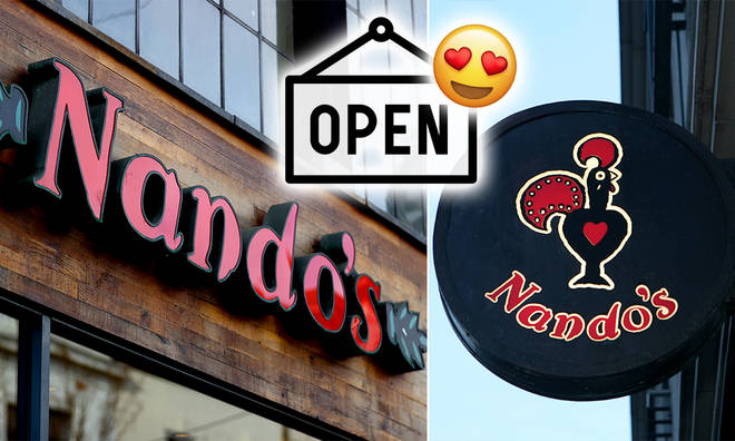 Nando's will be available on Deliveroo in selected areas