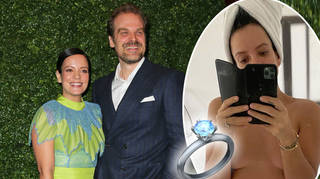 Lily Allen's fans spotted the dazzling ring on her wedding finger