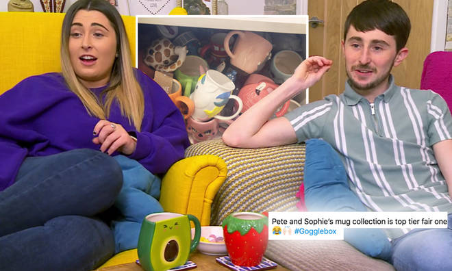 Pete and Sophie's mug collection has Gogglebox viewers envious