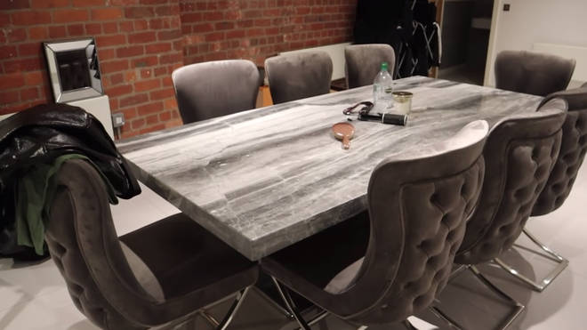 Tommy Fury picked out the table for their plush dining area