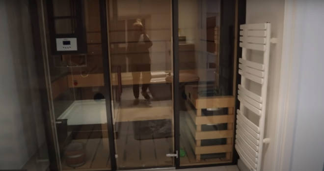 Their apartment has its own sauna