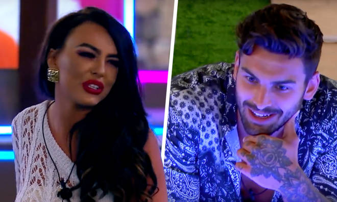 Rosie Williams and Adam Collard on Love Island
