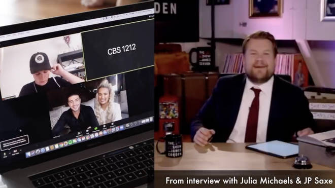 Josh Pieters and Archie Manners used old clips of James Corden to prank Molly-Mae Hague and Tommy Fury