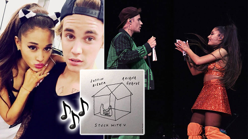 Ariana Grande Justin Bieber S First Collab Stuck With U Is