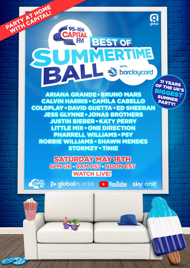 The full line-up for the Best of Capital's Summertime Ball with Barclaycard 2020