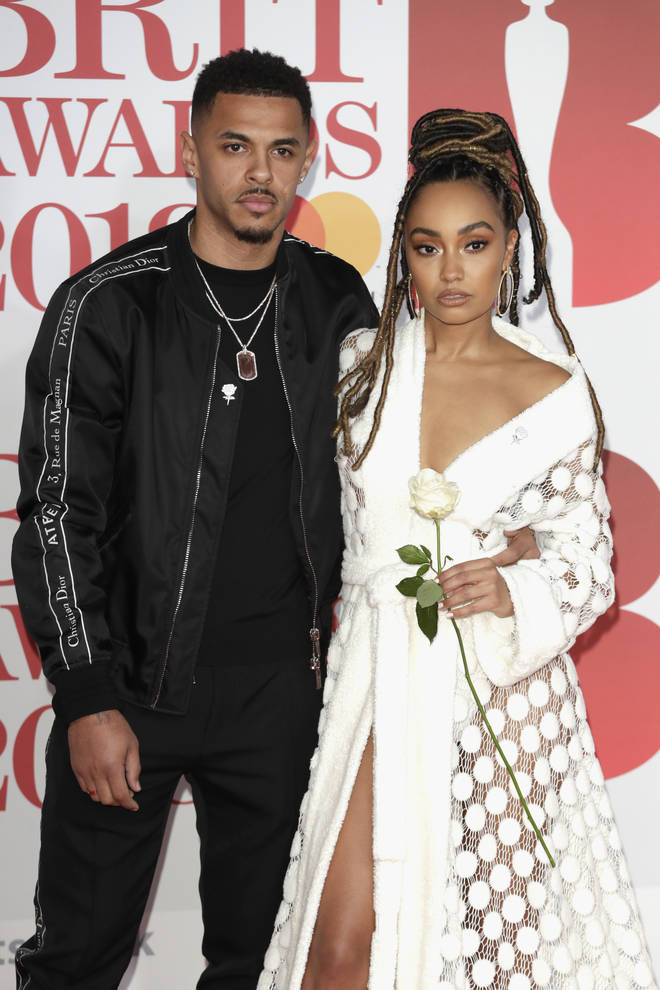 Leigh Anne Pinnock and boyfriend Andre Gray at the Brit Awards