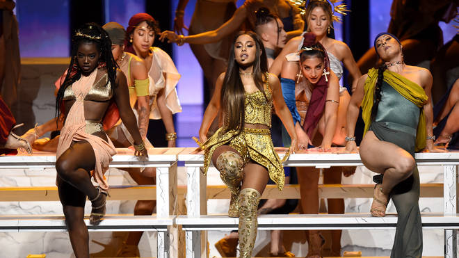 Ariana Grande performs at Video Music Awards 2018